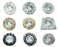 6pc CRYSTAL Diamante Halogen LED Recessed DOWNLIGHT SPOTLIGHT Light Fitting