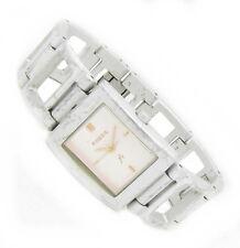 Fossil F2 Damen Armband Uhr Edelstahl Alu blau ES-9224 Effekt Glas Bat NEU N291