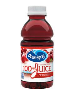 Ocean Spray 100% Juice, Cranberry  no sugar added ,24 pk./10 oz.