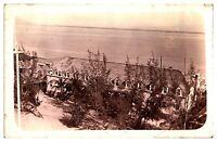 Antique early 20th century RPPC postcard Landscape seascape Kingston Jamaica