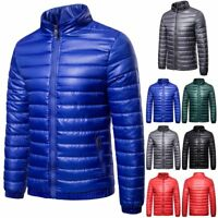 Men Jacket Down Jackets Men Stand Collat Ultra Light Warm Outwear Coat Parkas