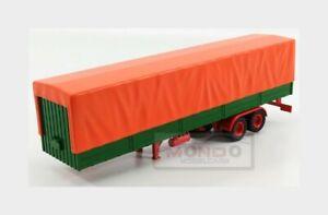 1:43 Ixo Accessories Trailer For Truck Rimorchio Orange Green TRL002 Model