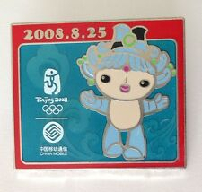Blue Mascot Beijing 2008 Olympics Pin Badge China Mobile (E5)