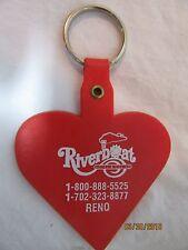 Riverboat Hotel & Casino Reno Nevada Rubber Bright Red Key Chain