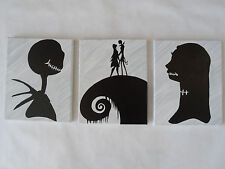 Nightmare Before Christmas Canvas Paintings / Wall Hangings / Wall Art Set of 3
