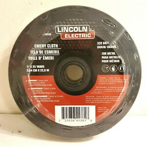 """Lincoln Electric Emery Cloth 320 Grit 1""""x25 yards KH268 Abrasive Roll For Metal"""