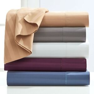 Unique Fitted Sheet Set Extra Deep Pocket Egyptian Cotton All Strip Twin XL Size