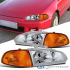 For 92-95 Honda Civic 23dr Crystal Headlights Head Lampamber Corner Lamps