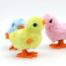 Fluffy Wind up Chicken Dance Clockwork Plush Chicken Fun Kids Toy BH