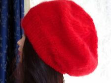 Hand Knitted slouchy ladies beanie, warm hat for the winter