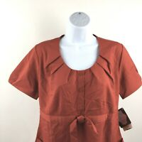 Barco NrG Scrub Top Womens Size Small Red