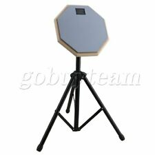 More details for portable 8inch adjustable folding drum stand w/gray practice pad set