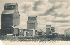 "1910 ""View of Elevators of Brentford, South Dakota"" Photo Printed Postcard"