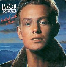 45 TOURS 7' SINGLE--JASON DONOVAN--SEALED WITH A KISS / JUST CALL ME UP--1989