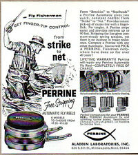 1972 Vintage Ad Perrine Automatic Fly Fishing Reels Aladdin Lab Minneapolis,MN