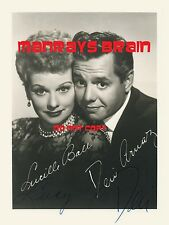 "LUCILLE BALL DESI ARNAZ  Signed Autograph RP 8.5 x 11"" Photo  I LOVE LUCY"