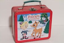 Rudolph the Red Nose Reindeer Stand-Up Cookie Cutter Set in Lunchbox Hermey, Sam
