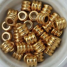 15% OFF!  5 Golden Finish Stainless Steel European Beads 9x8mm 4.5mm hole