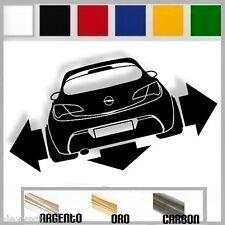 adesivo sticker opel ASTRA MK6 j gtc tuning down-out dub prespaziato,auto