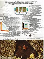 Publicité Advertising 1972 Le Chauffage Electrique intégré