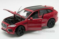 Jaguar F-Pace in Red/Black, Welly 24070, scale 1:24, model adult boy gift