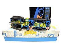 BATMAN WALLET & BELT XMAS GIFT SET CHRISTMAS ICONIC CLASSIC CARTOON LICENSED