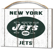 New York Jets Small Plaque - Weathered Logo [NEW] NFL Sign Wall Wood