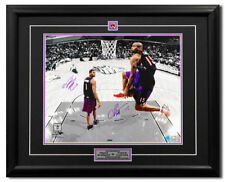 Vince Carter & Tracy McGrady Toronto Raptors Dual Signed Slam Dunk 25x31 Frame