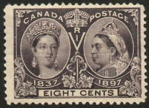 CANADA: 1897 Jubilee 8c Slate-Violet Sg 130 Lightly Mounted Mint Example (39974)