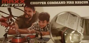 Maxx Action Chopper Command Flying Helicopter Fire Rescue Electronic Toy