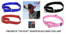 US MADE DOG No! Slip MARTINGALE Adjustable Choke NYLON TRAINING COLLAR Obedience