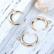Pack of 5 Gold Plated Crescent Moon Charms
