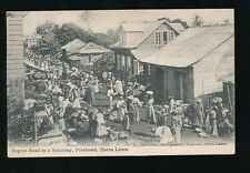 Africa SIERRA LEONE Freetown Regent Road Saturday PPC 1910 local pub Lisk-Carew