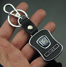 Auto Car LOGO Waist Shape Leather Hook Keychain Key ring Fob Fit for Black Blue