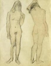 Karl Stachelscheid 1907-1970 Düsseldorf / Zeichnung weibliche Akte / 1930-40