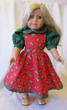 Christmas Dress & Shoes for the American Girl Doll w/free hanger