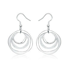 fashion lady hot hook round Silver jewelry trend women Charms earring jewelry