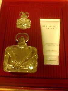 Estée Lauder GIFT SET BEAUTIFUL BELLE 50ML PARFUM SPRAY & 4ML + 75ML BODY LOTION