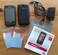 LG Optimus V VM670 - Black (Virgin Mobile) Android Smartphone Bundle