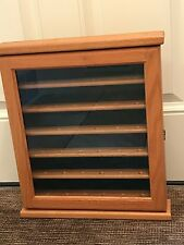 GOLF BALL DISPLAY CASE Oak Wood with Glass door Holds 36 balls
