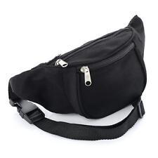 Tribal Bum Bag Travel Waist Fanny Pack Festival Money Belt Holiday Glitter Canvas Black