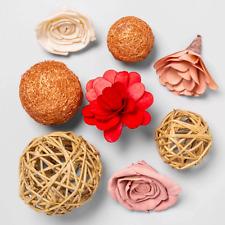 Opalhouse Valentines Decor 16 pc Shola Flower & Palm Vine Vase Filler Unscented