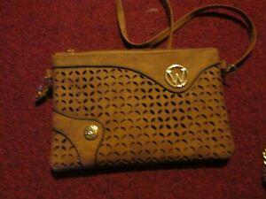 handbag tan zip long adjustable strap Handbag /Shoulder Bag brown