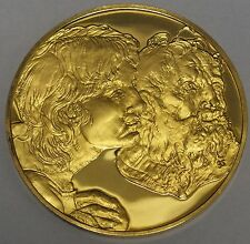 Franklin Mint Art Treasures Two Apostles 1518-1520 Gold Over Sterling