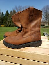Wolverine Men's Wellington Pull-On Leather W04727 Soft Toe Work Boots Sz 10.5