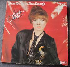 Karen Cheryl, show me you're man enough / stone man, Maxi Vinyl rouge