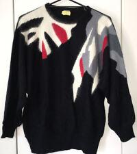 Target Jumper; Black; Stylish Flowing Pattern; Fit 14-16; Dolman Sleeve; Warm!