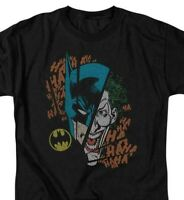 Batman Joker T-shirt SuperFriends retro 80s cartoon DC black graphic tee DCO293