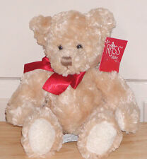 """Russ Berrie Plush Teddy, Make Someone Happy, Size: approx: 10""""L"""