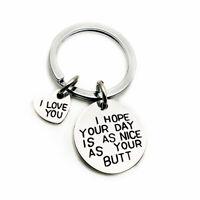 1PCS Key Chain Couple Keyring New For Girls Valentine's Day Ladies Key Holder